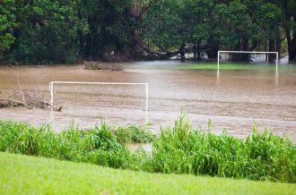 Pitch restoration after the floods subside